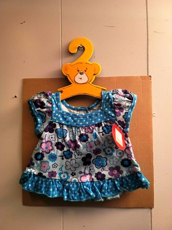 Build a Bear Blue Flowered Dress