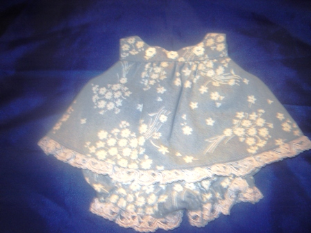 Blue Floral Jumper for 10-12 inch bears
