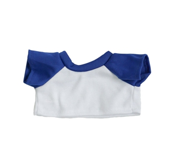 White with Royal Blue Sleeves