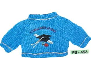 Congratulations Cap, Diploma and Rose Sweater