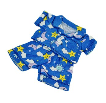 8-10 inch Blue Moon and Stars Pajamas