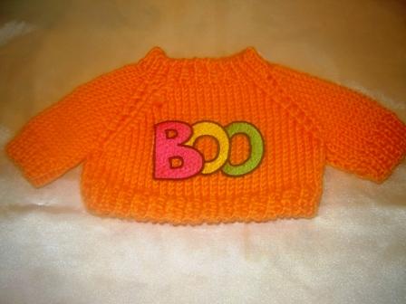 Orange BOO Sweater