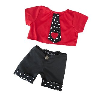 2 piece Boys Heart Tie Outfit