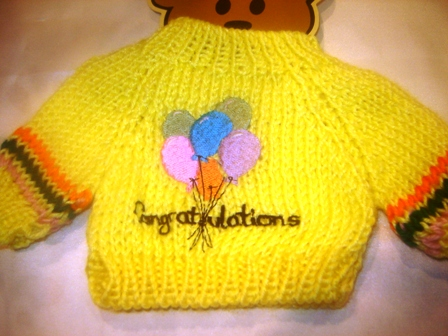 Congratulations Balloons Sweater