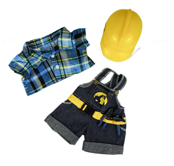 3 piece Construction Outfit for 14-15 inch bears