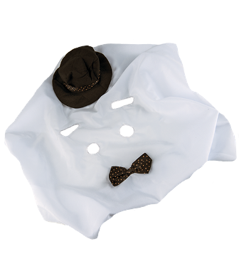 Deluxe Ghost Costume for 8-10 inch bears