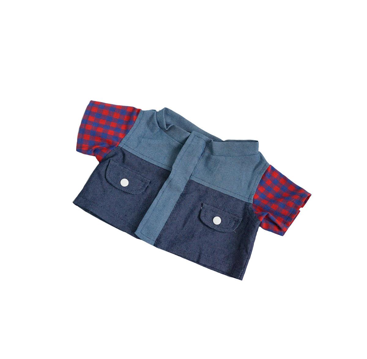 Denim and Plaid Jacket