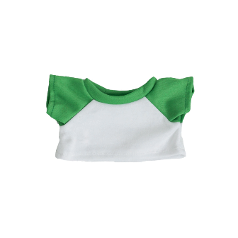 White Shirt with Green Sleeves