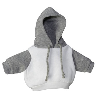 White and Grey Hoodie
