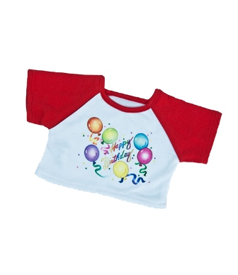 Happy Birthday Shirt for 14-16 inch bears