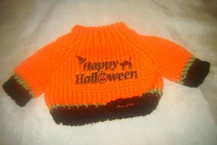 Black Trimmed Happy Halloween Sweater