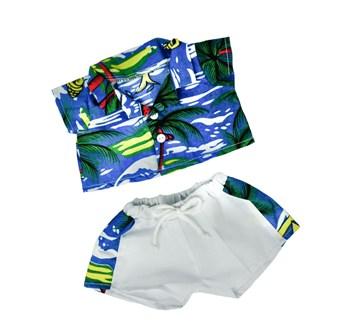 2 Piece Boys Hawaiian Outfit