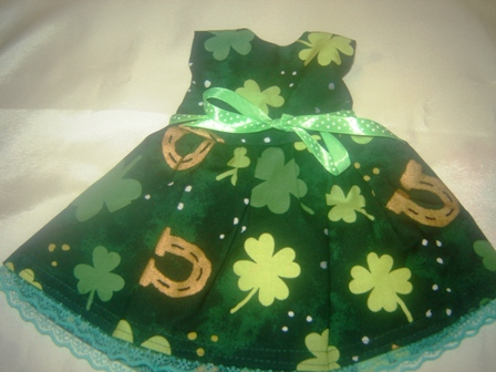 St. Patty's Day Horsehoes and Clover Dress