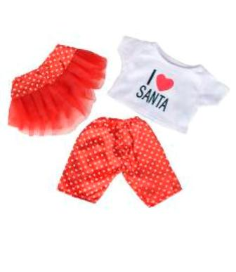 3 piece I Love Santa Outfit
