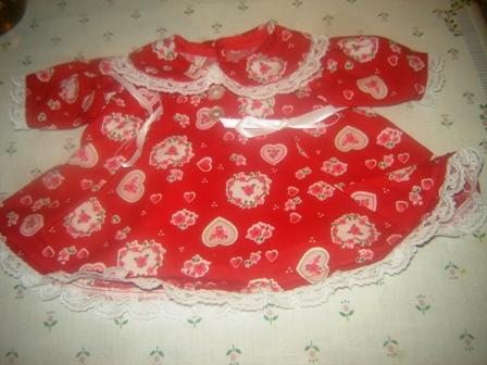 Lace trimmed Heart Flowers Dress