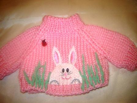 Ladybug and Bunny Sweater