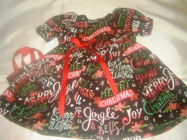 Merry Christmas Dress, Headband and Tote Bag