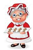 Mrs. Claus Dress With Gingerbread Apron