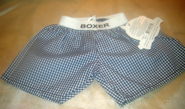 Navy Checked Boxers