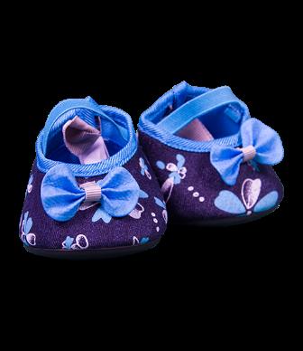 Blue Denim Heeled Shoes