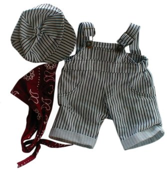 3 piece Train Engineer Outfit for 8 inch bears