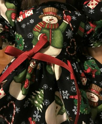 3 Piece Snowman Holiday Dress