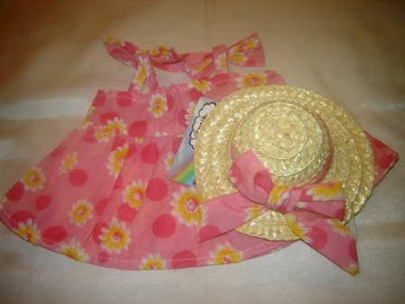 Pink Daisy Sundress and Hat