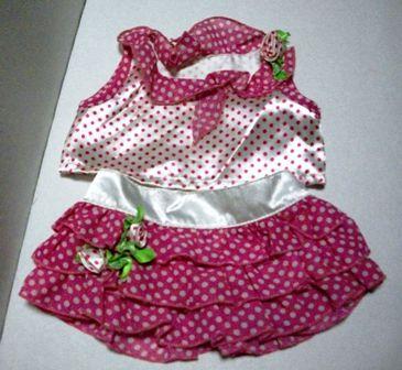 2 piece Polka Dot Skirt Outfit