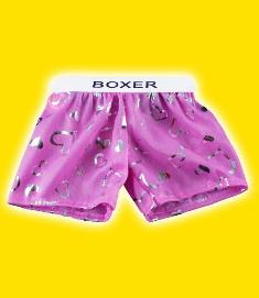 Pink Silky Heart Boxers