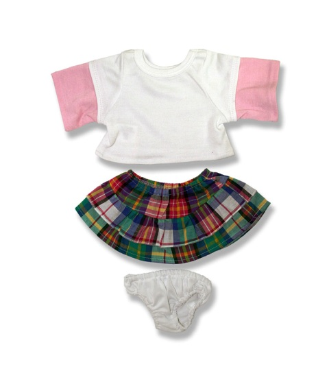 3 piece Plaid Skirt Outfit