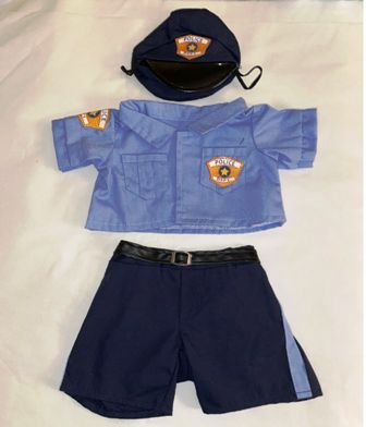 New! 3 piece Police Officer Costume
