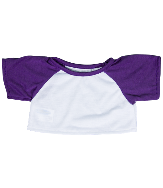 14-16 White with Purple Sleeves