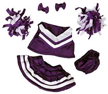 7 piece Purple Cheerleader Outfit