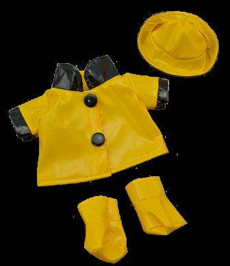 3 piece Raincoat Set for 8 - 10 inch bears