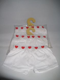 White Boxers with Red Heart Band