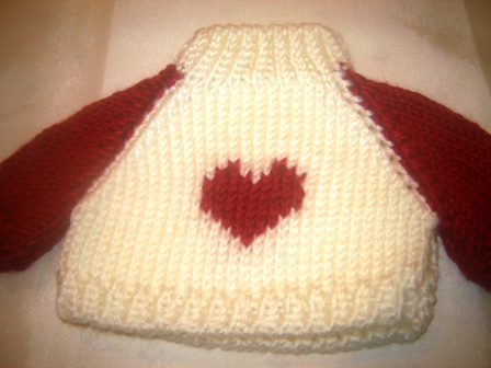 Red Heart Red Sleeves Sweater