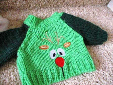 Green Reindeer Sweater