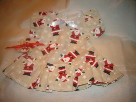 Santa Adorned Dress for 12-14 inch bears