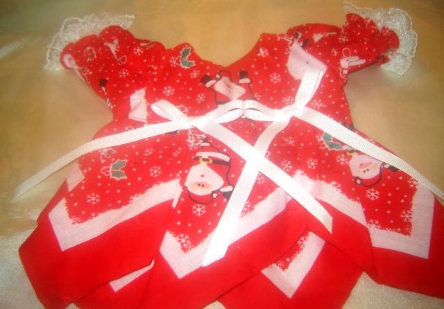 Santa Handkerchief Dress