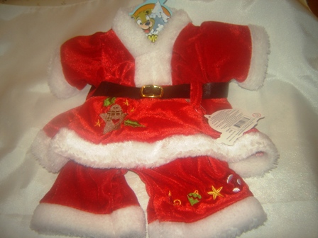 Santa Outfit adorned in Ornaments