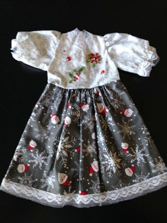 Santa and Snowflakes Dress