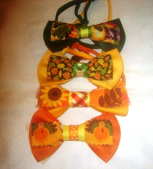 Set of 4 Fall Bow Ties