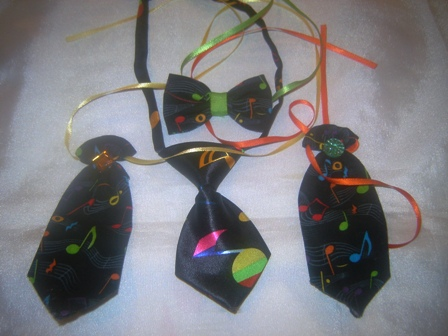 Set of 4 Musical Ties