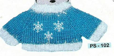 Snowflake Sweater with White Trim
