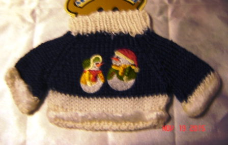 Snowman Couple Sweater