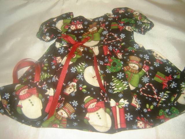 3 Piece Snowman Holiday Dress