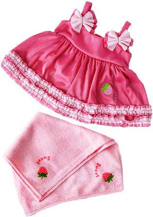 Strawberry Pink Swim Dress and Towel Set