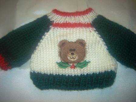 Teddy Bear and Mistletoe Sweater