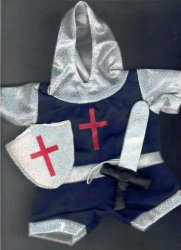 8 to 10 inch Knight Costume