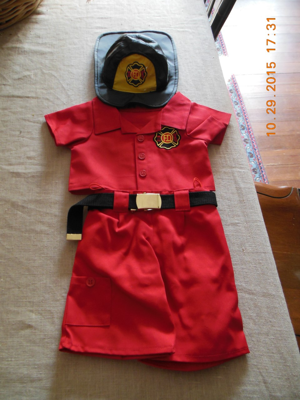 Red Fireman Uniform